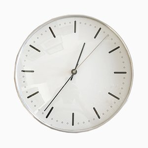 Mid-Century City Hall Wall Clock by Arne Jacobsen for Gefa, 1950s