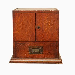 Military Campaign Chest in Oak with Brass Top,1800s