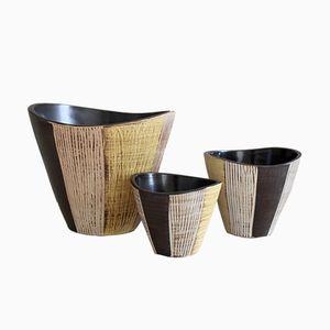 Cache-Pots en Céramique par Dümler & Breiden, 1950s, Set de 3