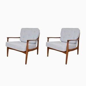 Sessel mit Gestell aus Teak von Eugen Schmidt für Soloform, 1960er, 2er Set