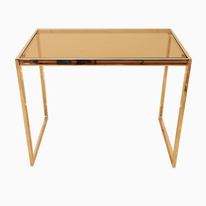 Chrome & Smoked Glass MDA Side Table by Howard Miller, 1970s