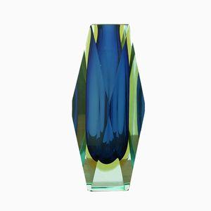 Vase aus Muranoglas von Alessandro Mandruzzato für Vetreria Artistica Oball, 1970er