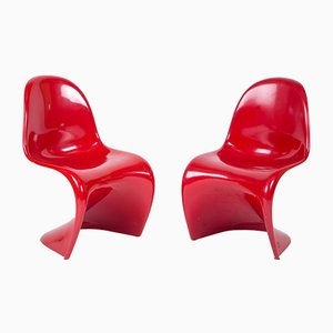 Vintage Red Panton Chair by Verner Panton for Herman Miller