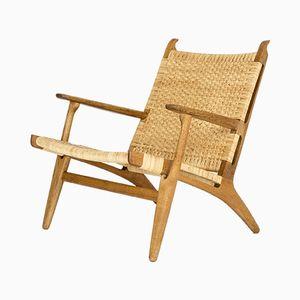 Chaise longue CH 27 di Hans J. Wegner per Carl Hansen & Søn, anni '50, set di 2