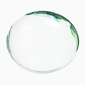 Cuenco Jenny de vidrio fundido verde de Deborah Allen para 1882 Ltd.
