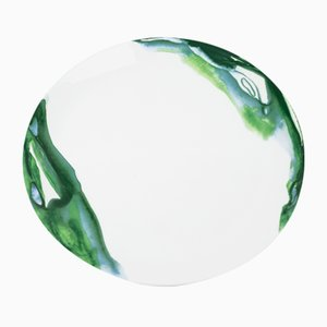 Jenny Green Dinner Plate by Deborah Allen for 1882 Ltd.