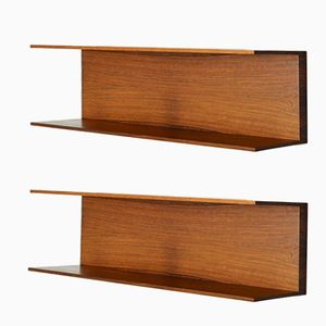 Hanging Shelves by Walter Wirz for Wilhelm Renz, 1960s, Set of 2
