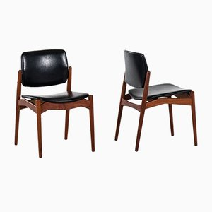 Captain Dining Chairs by Erik Buch for Ørum Møbelfabrik, 1960s, Set of 8