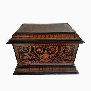 Cajonera de bodas antigua de madera de arce