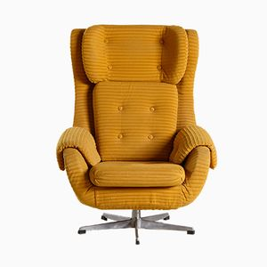 Vintage Yellow Armchair, 1970s