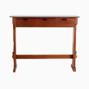 Tavolo da bar vintage con effetto marmo, anni '60