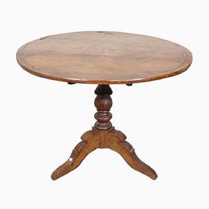 Tavolo antico in noce con intarsi, anni '50