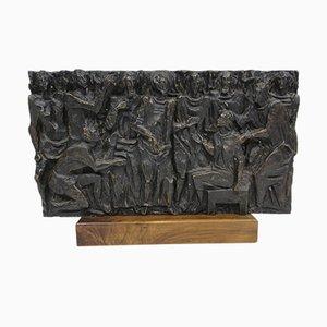 Italienische Bas-Relief Skulptur aus Bronze von Gianluigi Giudici, 1970er