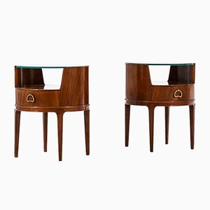 Bedside Tables by Axel Larsson for Bodafors, 1940s, Set of 2