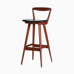 Teak Bar Stool by Henry Rosengren Hansen for Brande Møbelfabrik, 1960s