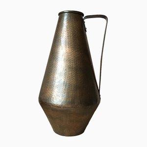 Brocca o vaso vintage in rame di Eugen Zint, Germania