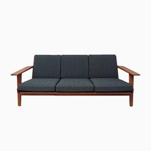 Modell GE 290 3-Sitzer Sofa mit Gestell aus Teak von Hans J- Wegner für Getama, 1960er