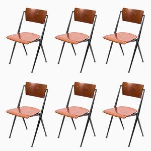Stapelbare Vintage Pyramide Stühle von Wim Rietveld für Ahrend De Cirkel, 6er Set