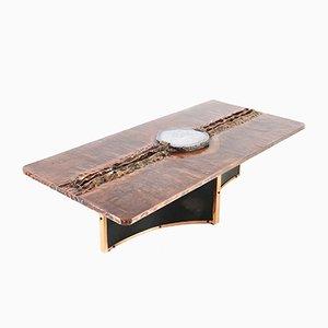 Table Basse avec Incrustation en Lépidolite par Marc D'Haenens, 1980s