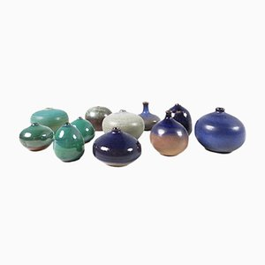 Belgische Vasen von Antonio Lampecco, 1980er, 11er Set