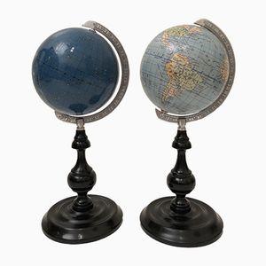 Vintage Terrestrial Globes from Columbus, Set of 2