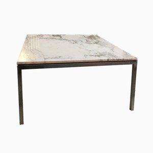 Table Basse Vintage avec Plateau en Marbre par Florence Knoll