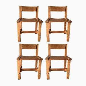 Trybo Stühle aus Pinienholz von Edvin Helseth für Stange Bruk, 1970er, 4er Set