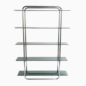 Chrome Free Standing Shelving Unit, 1970s