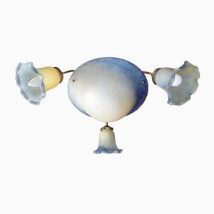 Two-tone Glass Paste Chandelier from Vianne, 1970s