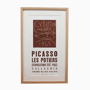Vintage Vallauris Ceramics Poster von Pablo Picasso & Arnéra Printers, 1963
