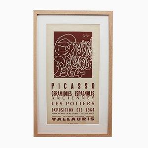 Affiche Céramiques de Vallauris Vintage par Pablo Picasso & Arnéra Printers, 1964