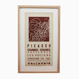 Vintage Vallauris Ceramics Poster von Pablo Picasso & Arnéra Printers, 1964