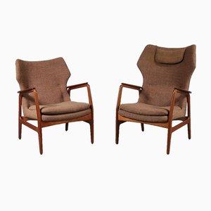 Niederländische Sessel von Aksel Bender Madsen, 1950er, 2er Set