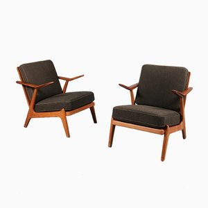 Danish Lounge Chairs by Arne Wahl Iversen, 1950s, Set of 2