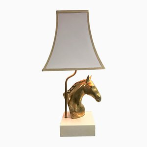 Brass Horse Head Table Lamp from Massive, 1970s