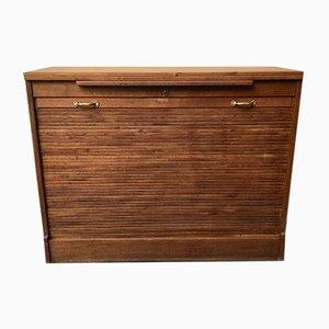 Vintage Oak Tambour Cupboard