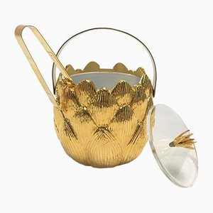 Brass Artichoke Ice Bucket by Hans Turnwald, 1980s