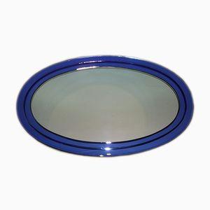 Espejo de cristal azul, años 50