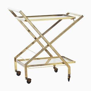 Mid-Century French Brass Bar Cart, 1960s