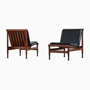 Model 501 Easy Chairs by Kai Lyngfeldt Larsen for Søborg, 1950s, Set of 2