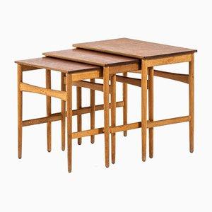 Tavolini a incastro di Hans Wegner per Andreas Tuck, anni '60