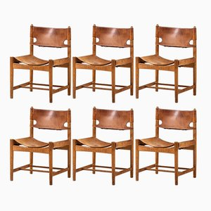 Dining Chairs by Børge Mogensen for Fredericia, 1950s, Set of 6