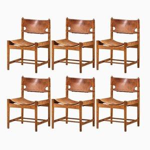 Esszimmerstühle von Børge Mogensen für Fredericia, 1950er, 6er Set