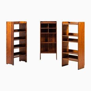 Bücherregale von Martin Nyrop für Rud Rasmussen, 1930er, 3er Set