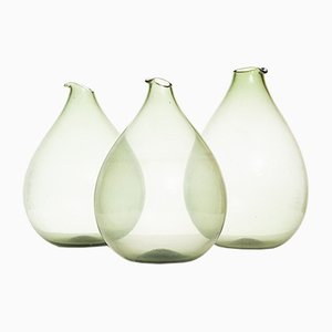 Glass Vases by Kjell Blomberg, 1963, Set of 3