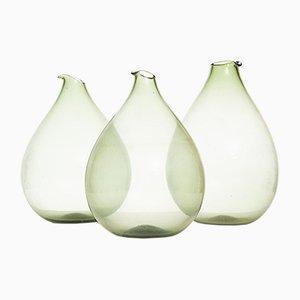 Vases en Verre par Kjell Blomberg, 1963, Set de 3