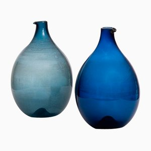 Glass Pullo Vases by Timo Sarpaneva, 1956, Set of 2