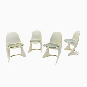 Vintage Casala Plastic Chairs by Alexander Begge, Set of 4