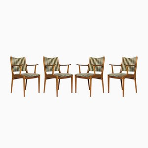 Teak Model UM85 Dining Chairs by Johannes Andersen for Uldum Mobelfabrik, 1960s, Set of 4
