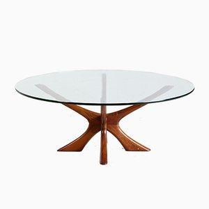 Table Basse JAX en Teck par Illum Wikkelso pour Niels Eilersen, 1960s